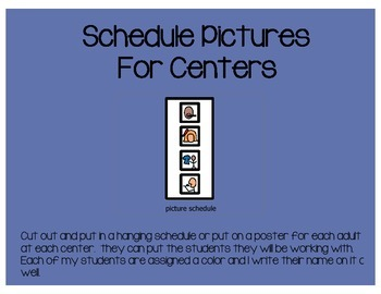 Schedule Pieces For Center Rotations