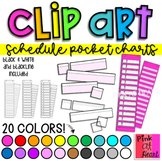Schedule Pocket Charts Clip Art / Set of 206 Images