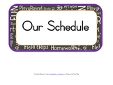 Schedule Sign Cards Kindergarten or 1st Grade