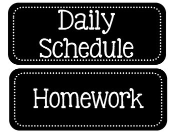 Schedule Signs