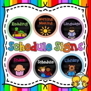 Schedule Signs