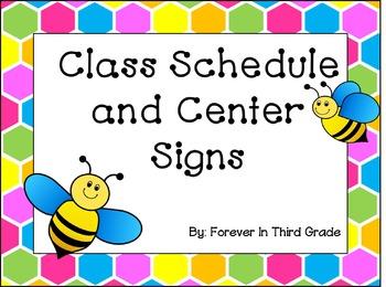 Schedule Cards - Bee