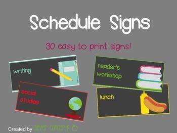 Schedule Signs (grey)