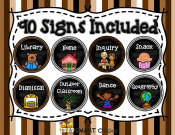 Schedule Signs (Neutrals)