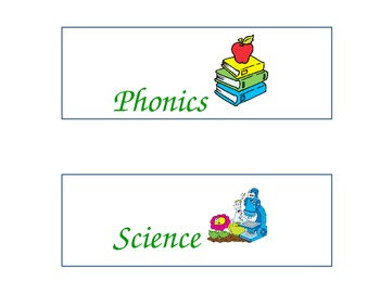 Schedule Signs-Primary
