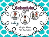 Daily Class Schedule Signs {Simple & Clear}