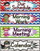 Schedule Signs: Superhero Theme Editable
