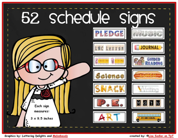 Schedule Signs for Chalkboard *CUSTOMIZED FOR BONNIE S*