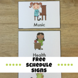 Schedule Signs for the Classroom