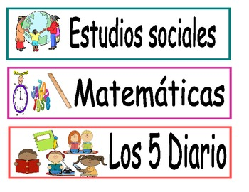Schedule Cards in Spanish (for Pocket Chart)