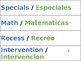 Schedule - Spanish & English - Editable