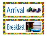 Daily Schedule Cards Lego superhero theme