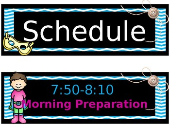 Schedule Template - Classroom Display