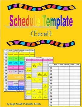 Schedule Template (Excel)