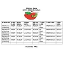 Schedule Template for Teachers