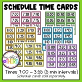 Schedule Time Cards (Agenda Cards Seperate)