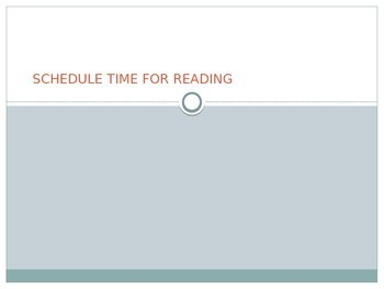 Schedule Time for Reading PowerPoint