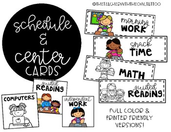Schedule and Center Cards