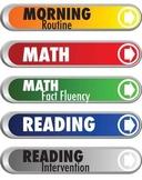 Schedule bars for classroom activities