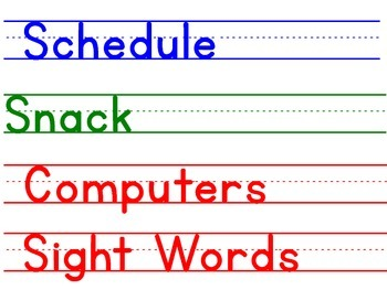 Schedule for Board