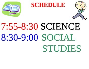 Schedule of the Day