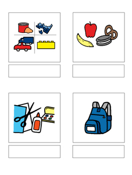 School words - matching book, flash cards and more!!