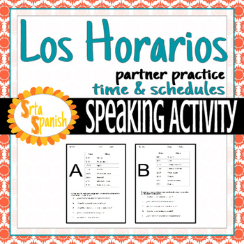School Schedules and Time Partner Blind Speaking Activity