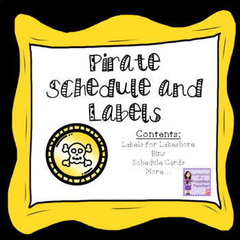 Schedules and Labels - Pirate Theme