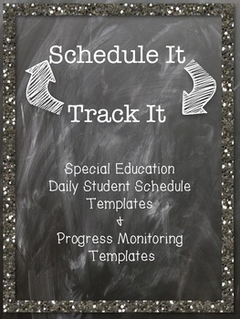 Scheduling & Progress Monitoring BUNDLE for Special Education