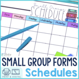 Reading Small Groups Scheduling Forms   Digital and Printable
