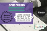 SCHEDULES for the SPECIAL EDUCATION Teacher Guide, Fillable & Editable Templates