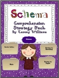 Schema Anchor Chart and Graphic Organizers Comprehension Strategy Pack