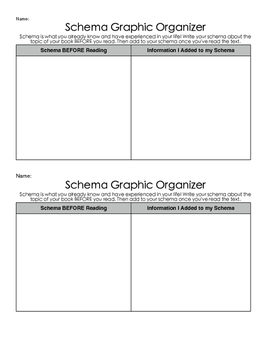 Schema Graphic Organizer- Use with any text!