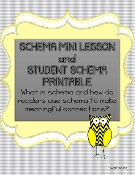 Schema Mini Lesson and Student Schema Printable: Making Re