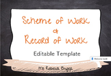 Scheme of Work with Record of Work Template
