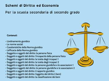 Schemi di Diritto ed economia per la scuola secondaria di secondo grado