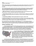 Schenck Vs. United States - Reading Comprehension - Censorship - Free Speech