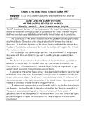 Schenck vs. United States: Schenck's Leaflet Worksheet and Answer Key