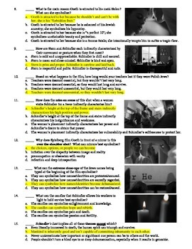 Schindler's List Film (1993) 15-Question Multiple Choice Quiz