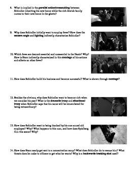 Schindler's List Film (1993) Study Guide Movie Packet