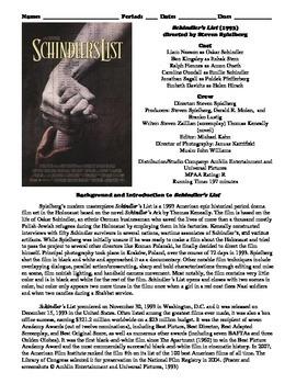 Schindler's List Study Guide | GradeSaver