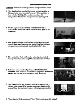 Schindler's List Film (1993) Study Guide Movie Packet