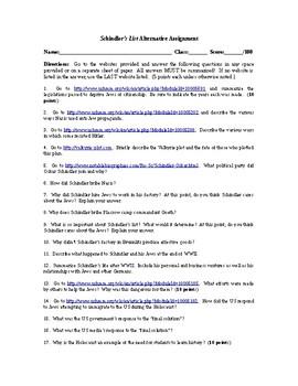 Schindler's List, Holocaust, WWII, Movie Alternative
