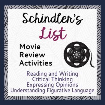 Holocaust Schindler's List Movie Review Activities