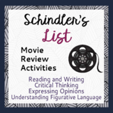 Holocaust Schindler's List Movie Review Activities