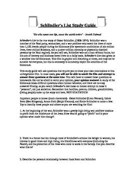 Schindler's List Video Guide