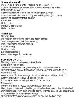 Schindler's List Worksheet
