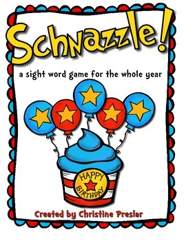 Schnazzle! - A Sight Word Game for All Year