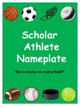 Scholar Athlete Nameplate