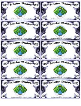 Scholar Dollars - Zoo Animals - Classroom Money!